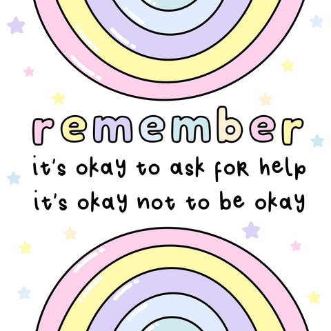 remember its okay not to be okay