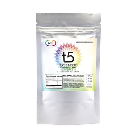 T5 Fat Binder Food Supplement |Trademarked by BHC - Bulkhealthcapsules