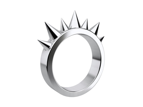 LUSASUL - Agressive Silver Ring With 7 Spikes