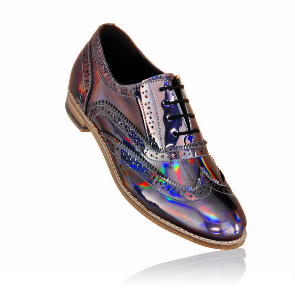 Luke Grant-Muller - Holographic Iridescent Brogue Shoes