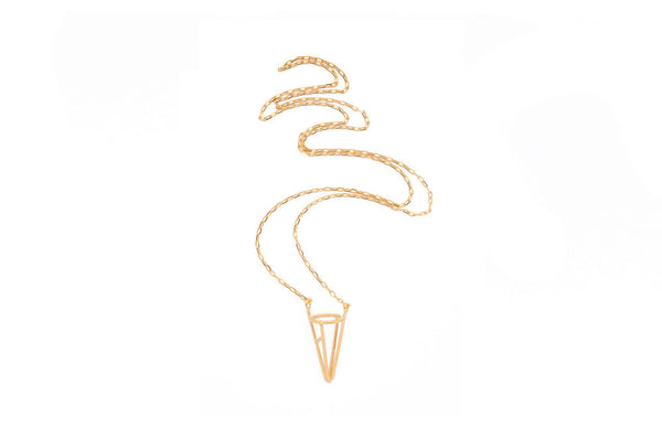 Psyche Jewelry NY Reticula Necklace in 14k gold or rhodium finish