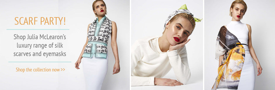 Shop Women's Julia McLearon Luxury Silk Scarves and Eyemasks