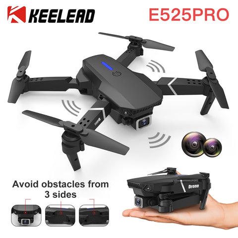KEELEAD E525 PRO Mini Drone 4K HD Double Camera WiFi Fpv Foldable Quadcopter rc helicopter child Dron Gift