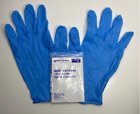 Latex gloves for first aid