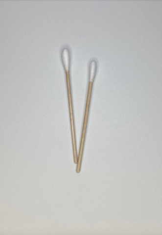 Sterile cotton swabs for first aid