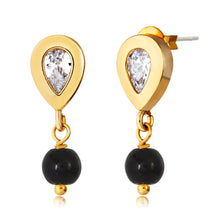 Load image into Gallery viewer, Black Drop Earrings