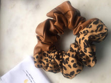 Load image into Gallery viewer, Tan Leather Scrunchie