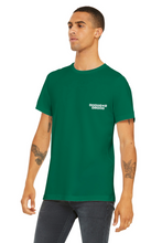Load image into Gallery viewer, Numbered Unisex T-Shirt // St Patrick's // White on green.