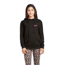 Load image into Gallery viewer, Unisex Pullover Hoodie // Pink on black.