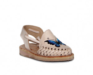 Mexican Leather Sandal K Butterfly