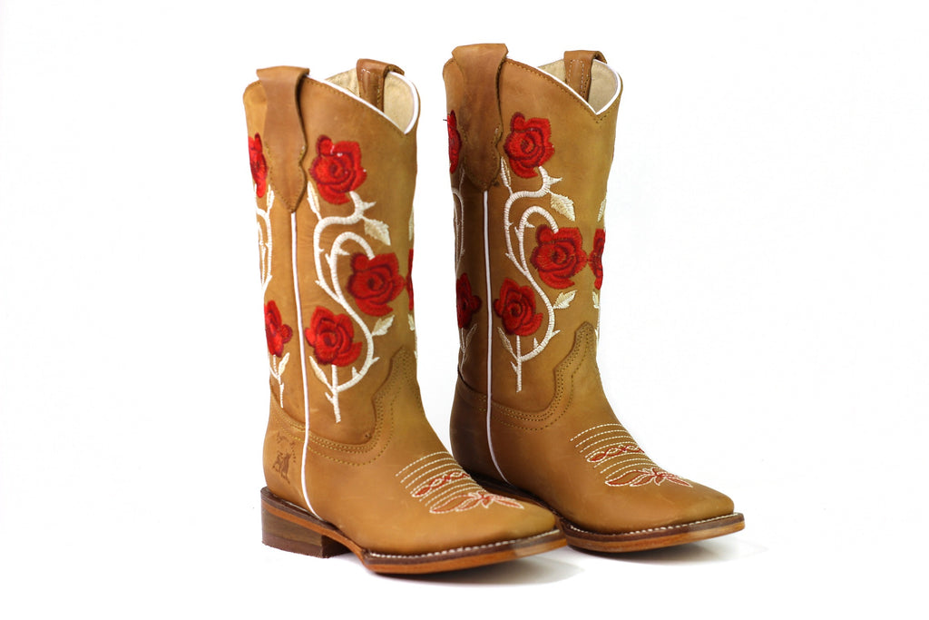 RB Red Flower Kid Boot