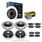 DBA T2 SLOTTED FRONT/REAR ROTORS W/HAWK PERFORMANCE CERAMIC PADS - FORD FOCUS ST LW 11-15 - Automotive Therapy