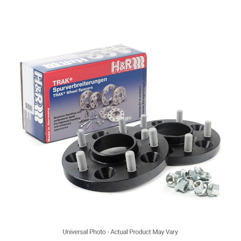 H&R TRAK+ DRS WHEEL SPACERS PAIR 15MM BLACK - FORD FOCUS MK2 INC XR5/FOCUS MK3 INC ST - Automotive Therapy