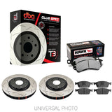 DBA T3 4000 SLOTTED FRONT ROTORS W/HAWK PERFORMANCE HP+ PADS - FORD FOCUS ST LW/LZ 11-18 - Automotive Therapy