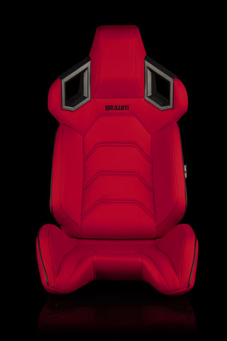 BRAUM RACING ALPHA-X SERIES RACING SEATS (RED CLOTH) – PAIR - Automotive Therapy