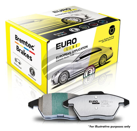 FORD FOCUS XR5 BREMTEC EUROLINE CERAMIC+ BRAKE PADS - FRONT - Automotive Therapy