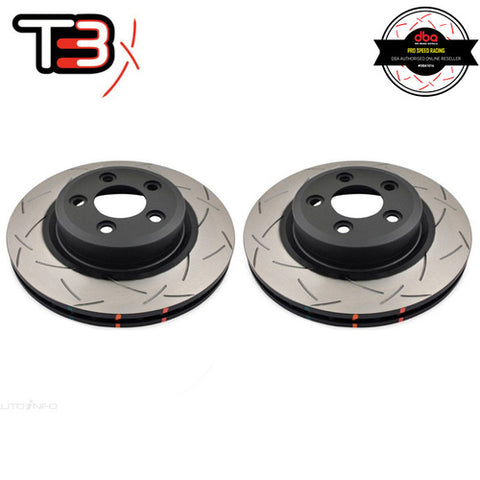 DBA T3 4000 SERIES SLOTTED FRONT ROTORS PAIR - FORD FALCON BA, BF, FG/TERRITORY SY, SZ.