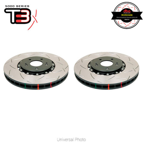 DBA T3 5000 SERIES 2-PIECE SLOTTED FRONT ROTORS PAIR - FORD FOCUS RS MK2 LV 09-11.