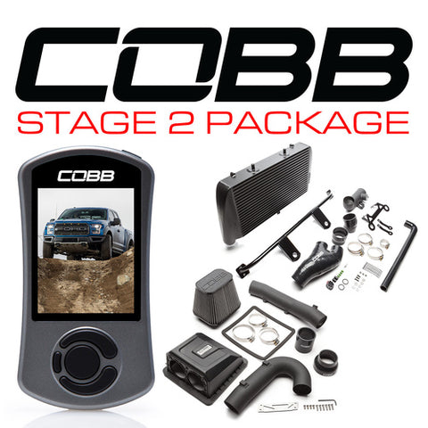COBB TUNING STAGE 2 POWER PACKAGE BLACK - FORD F-150 RAPTOR 17-20 (WITH TCM FLASHING) - Automotive Therapy