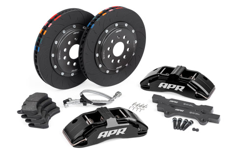 APR BRAKES, 350x34mm, 6 PISTON, MK7 Golf R/S3, Black, WITH PADS - Automotive Therapy