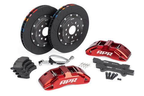 APR BRAKES MK6 GTI - 350X34MM 2 PIECE 6 PISTON KIT - FRONT - RED - Automotive Therapy
