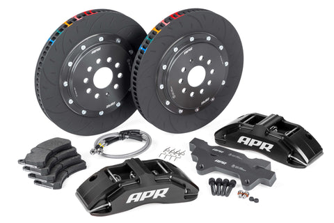 APR BRAKES B8 S4 - 380X34MM 2 PIECE 6 PISTON KIT - FRONT - BLACK - (MLB 345MM) - Automotive Therapy