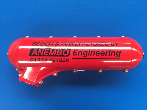 ANEMBO - FOCUS XR5 / RS MK2 CAST INLET PLENUM - RED - Automotive Therapy