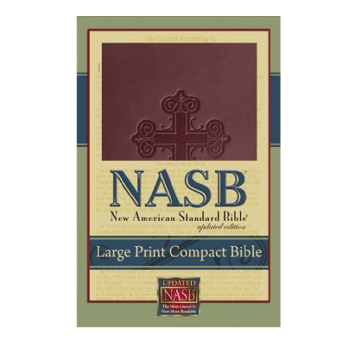 NASB Large Print Compact Leathertex Bible