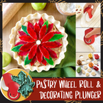 Pastry Wheel Roll and Decorating Plunger