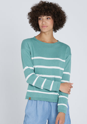 Crew Neck Knit #STRIPES - Fischerins Kleid