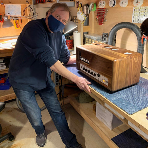 Doug Anderson at the Shop getting his amp maintained