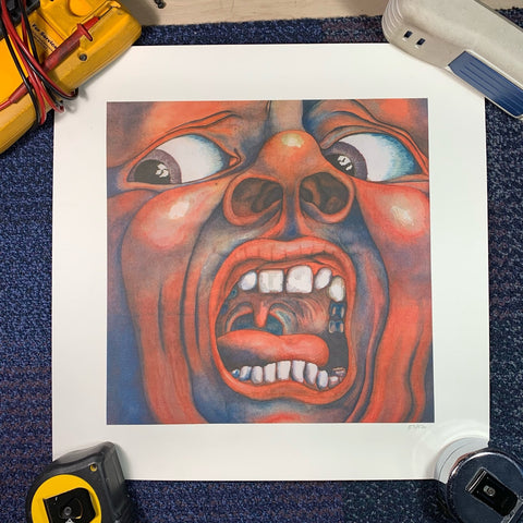King Crimson and what maybe the best album artwork of all time
