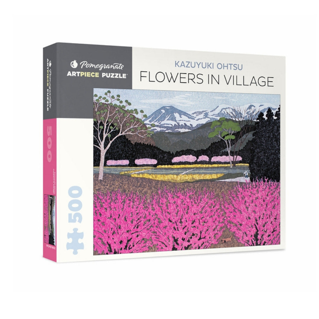 Flowers in Village by Kazuyuki Ohtsu 500 Piece Puzzle - The Puzzle Nerds