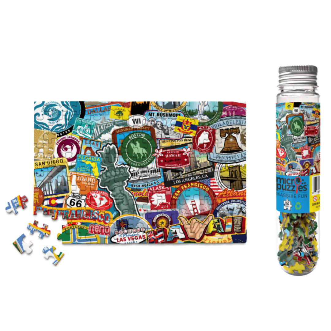 Road Trip USA 150 Piece Mini Puzzle - The Puzzle Nerds