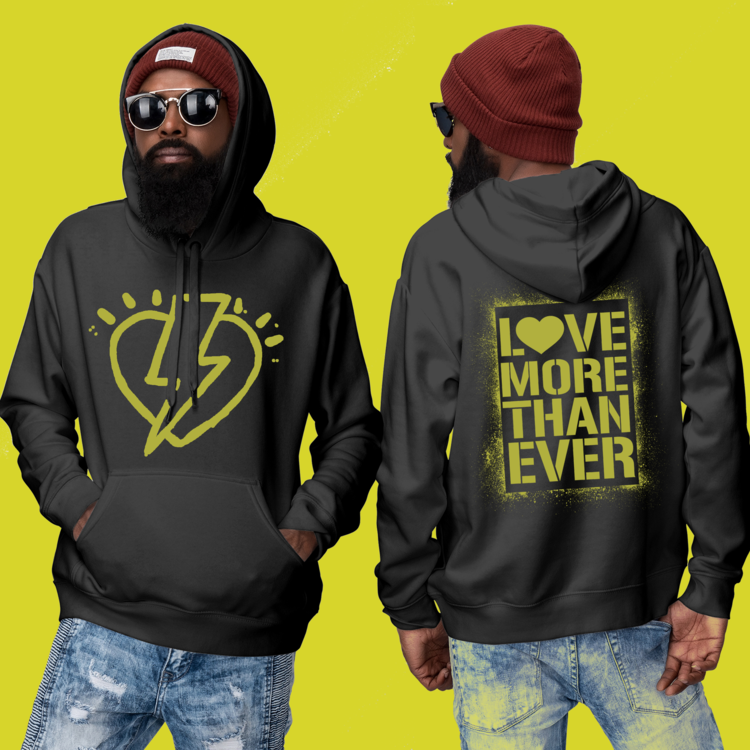 Black & Yellow LMTE Love Power Hoodie