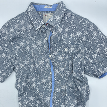 Load image into Gallery viewer, LMTE Men's Large Grey/Blue Floral Button down - Size Large