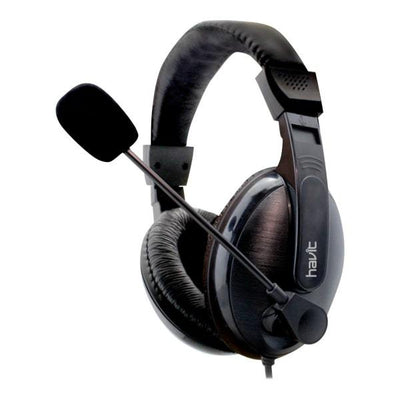 Havit Basicline Headphones med mikrofon. Model: HV-H139D. Sort.