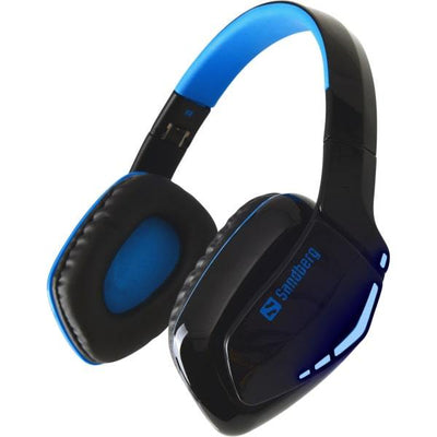 Sandberg Blue Storm Trådløst Gaming Headset. Sort/Blå.