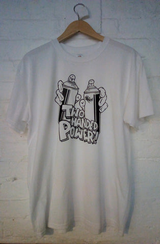Two Handed Power Tee (White)