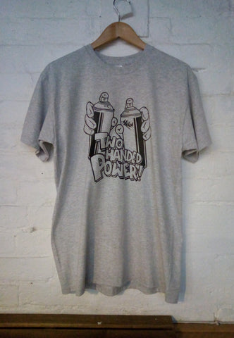 Two Handed Power Tee (Grey)