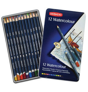 Derwent Watercolour Pencil Tin (12 pencils)
