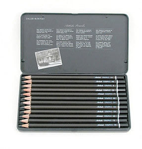 Daler Rowney Artists Graphic Pencils Set of 12