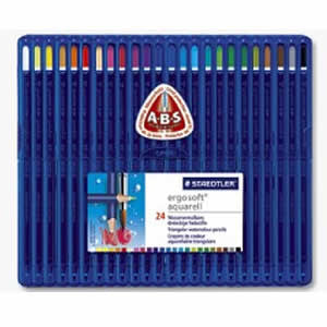 Staedtler Ergosoft Aquarell 156 SB24 Watercolour 24 Pencil Box Set