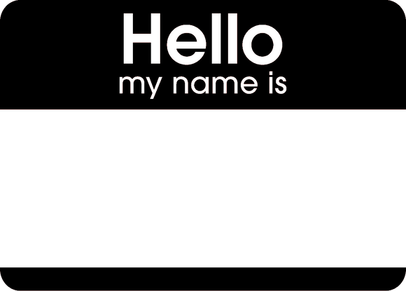Hello Stickers Black