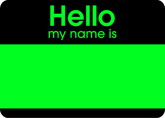 Hello Fluroscent Stickers Green