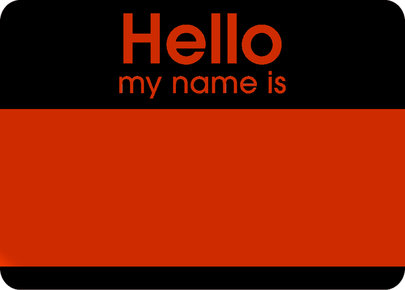 Hello Fluroscent Stickers Orange