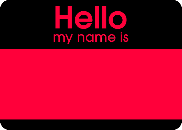 Hello Fluroscent Stickers Pink