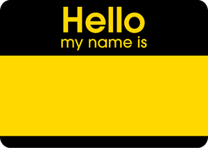Hello Fluroscent Stickers Yellow