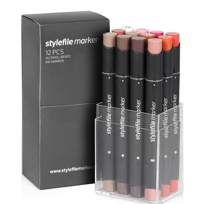 Stylefile 12 Pen Set - Brown Set