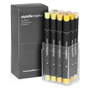 Stylefile 12 Pen Set - Yellow Set